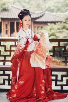 OriginalAuthentic <Jinlin> Chinese Style Traditional Red Hanfu