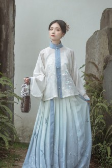Original Design Stand Collar Autumn And Winter Chinese Hanfu Dress