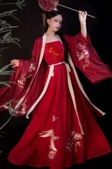 Original Design Chinese Style Red Hanfu Full Set
