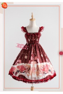 Strawberry Witch The Clock Adventure Original Printing Sweet Lolita JSK Dress Version II