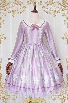Strawberry Witch The Little Angel Singing Blessing Poem Long Sleeves Sweet Lolita OP Dress
