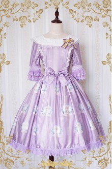 Strawberry Witch The Little Angel Singing Blessing Poem Short Sleeves Sweet Lolita OP Dress