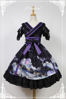 Neverland At The Beginning Of January Vintage V-neck Off-shoulder Lolita OP Dress
