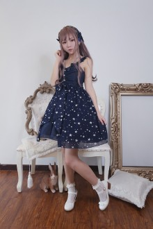 Neverland First Star High Waist Sweet Lolita JSK Dress 3 Colors