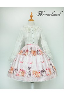 Neverland Cute Rabbit Printing Sweet Lolita SK 3 Colors