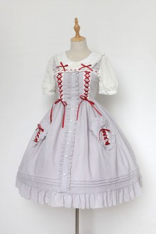 Neverland Anne Of Green Gables Cotton Sweet Lolita OP Dress 3 Colors
