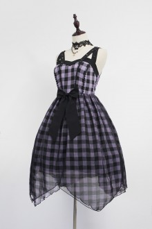 Neverland Metal Vivian Rivet Cross With Lattice Hood Gothic Lolita JSK Dress (Include Girdle)