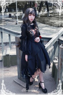 Neverland Souls Symphony Splice Irregular Hem Gothic Lolita JSK Dress