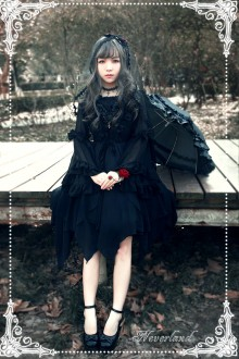Neverland Souls Ballet Irregular Hem Removable Shawl Gothic Lolita Dress 3 Colors