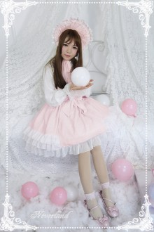 Neverland Cream Mousse Plaid Printed  Sweet Lolita JSK Dress 3 Colors