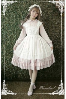 Neverland Rosemary Pastoral Long Sleeves Sweet Lolita OP Dress 4 Colors
