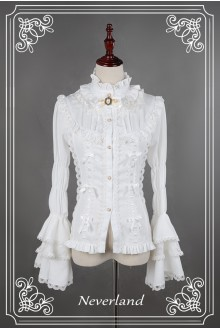 Neverland Dracula Stand Collar Gothic Lolita Blouse