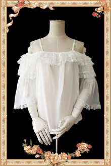 Infanta Antique Dress Shop Off-the-shoulder Hime Sleeves Lolita Blouse