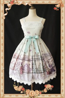Infanta Antique Dress Shop Original Printing Sweet Lolita JSK 3 Colors