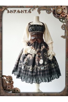 Infanta Mechanical Dolls Steampunk Printing Lolita JSK 3 Colors