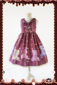 Infanta Bears and Rabbits Original Printing Sweet Lolita JSK 4 Colors