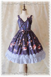 Infanta Cute Fat Goldfish Printing Sweet Lolita JSK