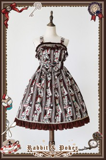 Infanta Rabbit & Poker Printing Mini Sweet Lolita JSK