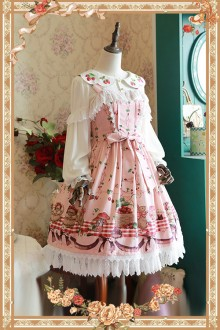Infanta Rabbit In Picnic Printing Sweet Lolita JSK 4 Colors