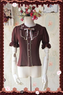 Infanta Chiffon Short Sleeved Sweet Lolita Blouse