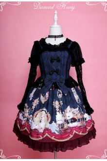 Diamond Honey Alice Tea Party Darkness Fairy Tale Gothic Lolita JSK Dress 2 Colors