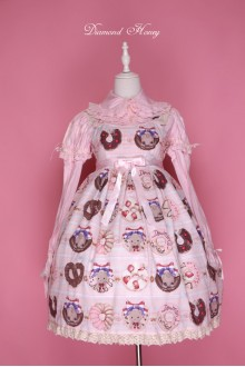 Diamond Honey Chocolate Donuts Cute Girl Sweet Lolita JSK Dress