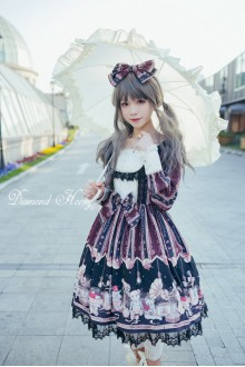 Diamond Honey Vintage Doll Elegant Girl Punk Lolita OP Dress