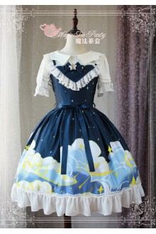 Magic Tea Party Starry Sky Original Printing Sweet Lolita JSK