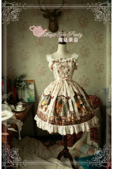 Magic Tea Party Squirrel Couple's Afternoon Original Printing Sweet Lolita JSK 3 Colors