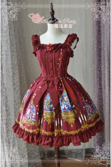 Magic Tea Party Beauty & Beast Original Printing Sweet Lolita JSK