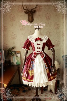 Magic Tea Party Beauty & Beast Original Printing Short Sleeves Sweet Lolita OP