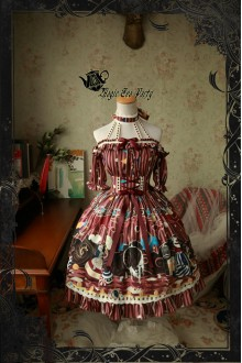 Magic Tea Party Circus Girl Original Printing Sweet Lolita OP 3 Colors