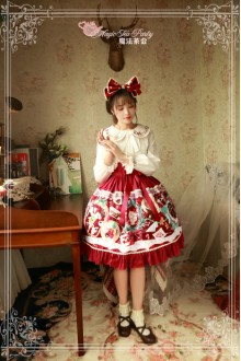 Magic Tea Party Sweet Christmas Original Printing Lace Sweet Lolita SK 2 Colors