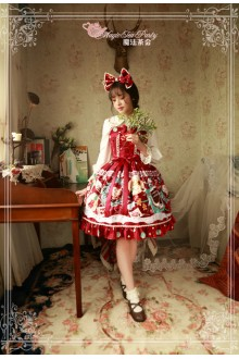 Magic Tea Party Sweet Christmas Original Printing Lace Sweet Lolita JSK 2 Colors