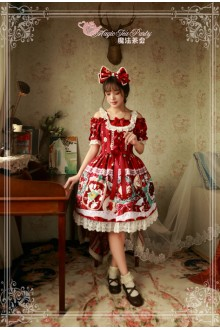 Magic Tea Party Sweet Christmas Original Printing Lace Sweet Lolita OP Dress 2 Colors