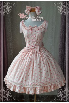 Magic Tea Party Pink Wish Original Printing Sweet Lolita JSK 2 Colors