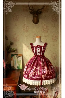 Magic Tea Party Flower Fairy Original Printing Half Sleeve Sweet Lolita JSK Dress