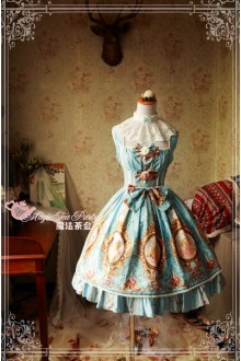 Magic Tea Party Spring of Europa Original Printing Sweet Lolita JSK Dress 4 Colors
