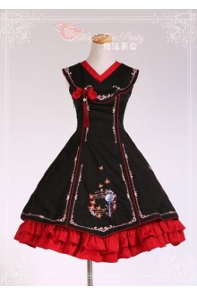Magic Tea Party Original Chinese Style Coloured Embroidery Classic Lolita JSK Dress 3 Colors