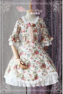 Magic Tea Party Peony Elegant Printing Classic Lolita OP Dress