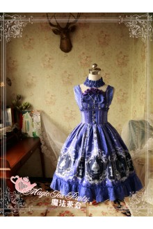 Magic Tea Party Cross and Censer Original Printing Fishbone Girdle Classic Lolita JSK Dress