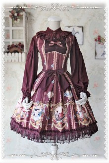 Infanta  Swan Lake Love Printing Classic Lolita JSK Dress 3 Colors