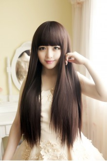 Long Straight Hair Lolita Wig 3 Colors