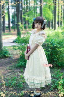 Strawberry Witch Fresh Statice Sinensis Girald Sweet Lolita Suspenders JSK Dress 3 Colors