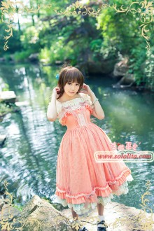 Strawberry Witch Fresh Statice Sinensis Girald Sweet Lolita JSK Dress 3 Colors