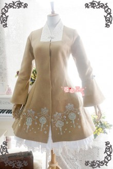 Strawberry Witch Original Chinese Style Jade Pendan Embroidery Lolita Coat 3 Colors