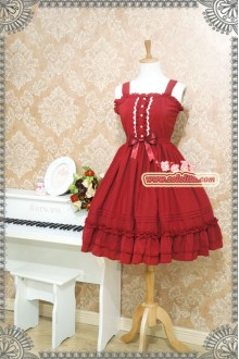 Strawberry Witch Candy Chiffon Ice Cream Puff Sweet Lolita JSK 6 Colors