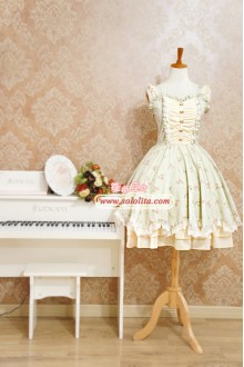 Strawberry Witch Summer Fresh Floral Sweet Lolita Suspenders Dress
