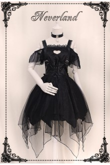 Neverland Ember Chiffon Dark Gothic Lolita Dress 2 Versions