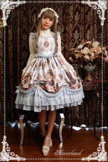 Neverland Magic Night Museum Classic Gothic Lolita JSK Dress 5 Colors